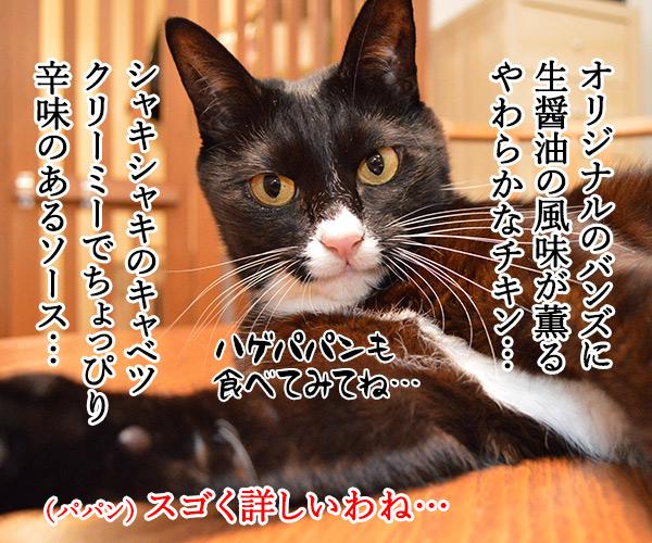 マクドナルドのチキンタツタが限定復活なのッ 猫の写真で4コマ漫画 2コマ目ッ